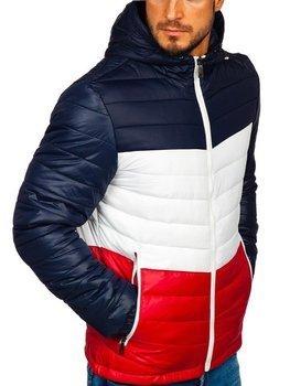 Tmavomodrá pánska športová prechodná bunda Bolf 5845