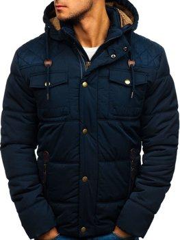 Tmavomodrá pánska zimná bunda BOLF 1665