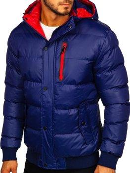 Tmavomodrá pánska zimná bunda Bolf 5839