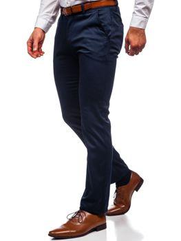Tmavomodré pánske chinos nohavice Bolf KA1786P