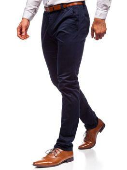 Tmavomodré pánske chinos nohavice Bolf KA6807
