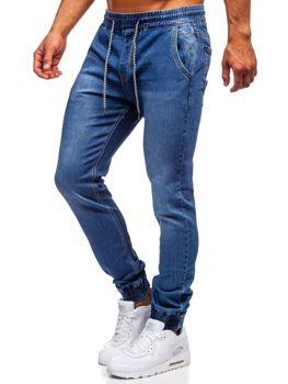 Tmavomodré pánske rifľové joggery Bolf KA1076