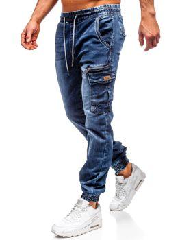 Tmavomodré pánske rifľové joggery Bolf KA687