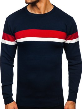 Tmavomodrý pánsky sveter Bolf H2072