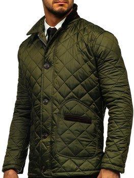 Zelená pánska elegantná prechodná husky bunda Bolf 0003