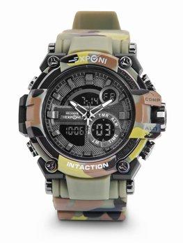 Zelené pánske hodinky s maskáčovým vzorom Bolf 3258