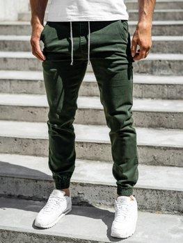 Zelené pánske jogger nohavice Bolf CT8808