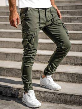 Zelené pánske kapsáčové joggery Bolf 8983