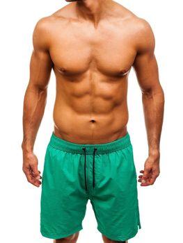 Zelené pánske kúpacie šortky BOLF 82243