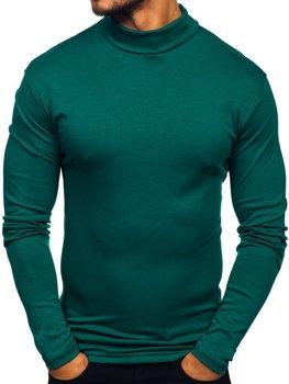 Zelený pánsky rolák bez potlače Bolf145347
