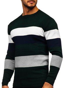 Zelený pánsky sveter Bolf H2005