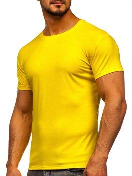 Žlté neónové pánske tričko bez potlače Bolf 2005