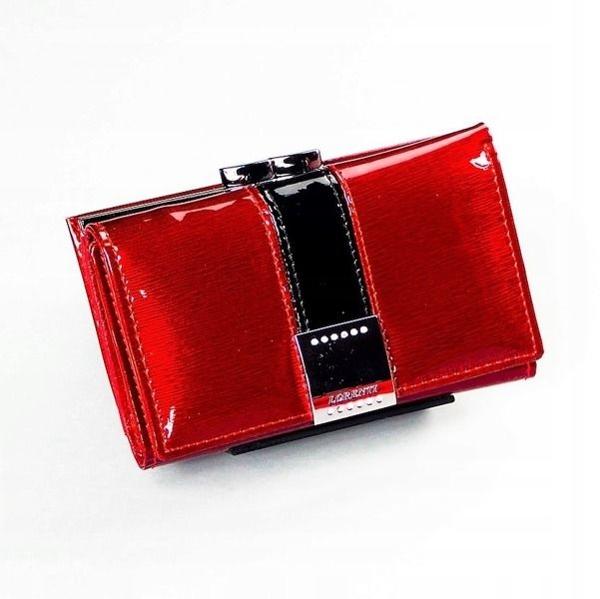 Červená dámska kožená peňaženka 1216