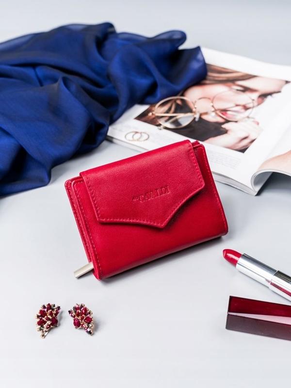 Červená dámska kožená peňaženka 2409