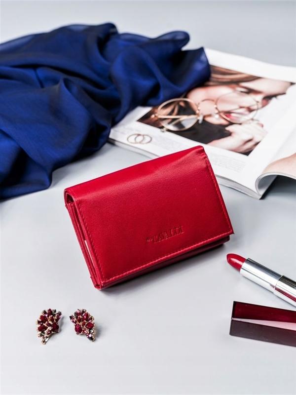 Červená dámska kožená peňaženka 2410
