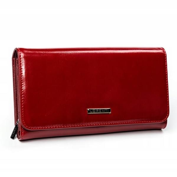 Červená dámska kožená peňaženka 2900