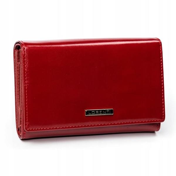 Červená dámska kožená peňaženka 2905