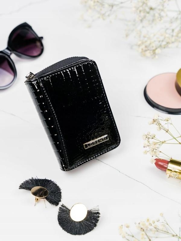 Čierna dámska kožená peňaženka 2110
