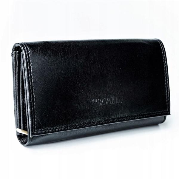 Čierna dámska kožená peňaženka 2776