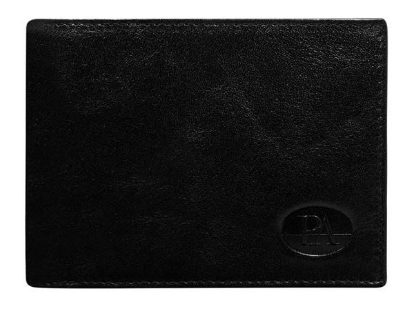 Čierna pánska kožená peňaženka 102