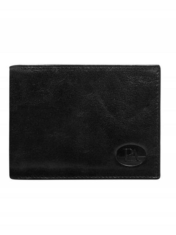 Čierna pánska kožená peňaženka 146