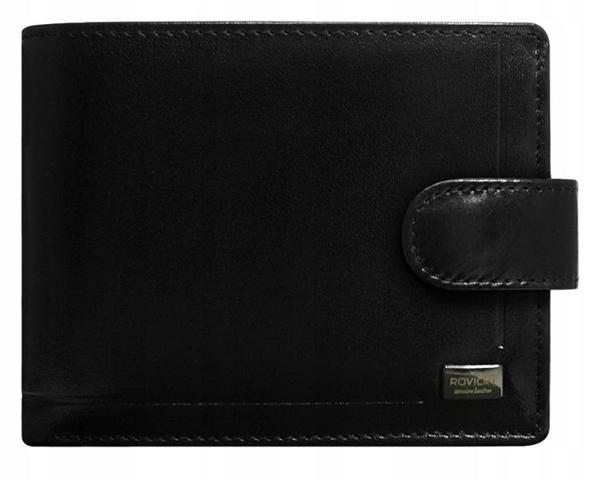 Čierna pánska kožená  peňaženka 196