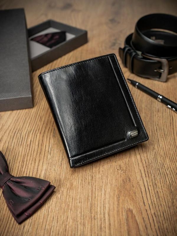 Čierna pánska kožená  peňaženka 234