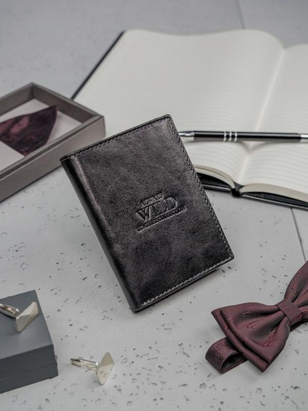 Čierna pánska kožená peňaženka 3133