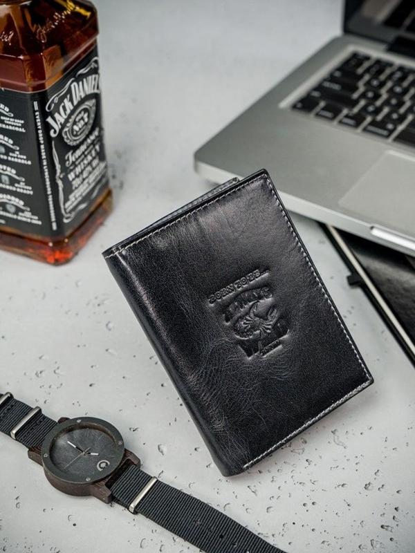 Čierna pánska kožená peňaženka  3210