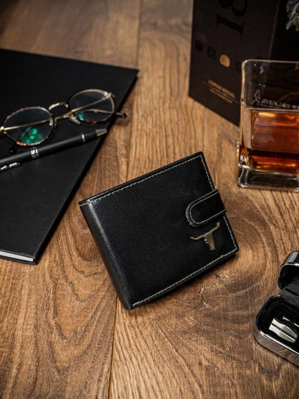 Čierna pánska kožená peňaženka 57
