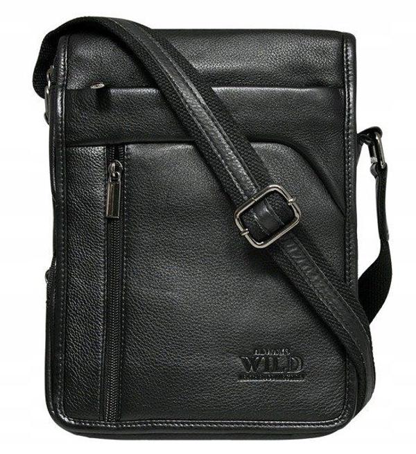 Čierna pánska kožená taška 515