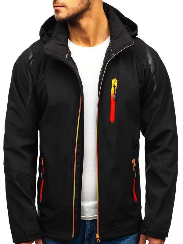 Čierna pánska softshellová bunda BOLF ZS202-A