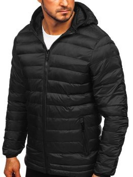 Čierna pánska športová zimná bunda Bolf SM72