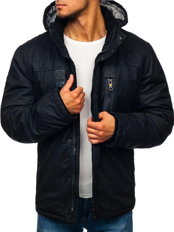 Čierna pánska zimná bunda BOLF 1567