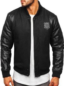 Čierna pánska zimná bunda Bolf 3324