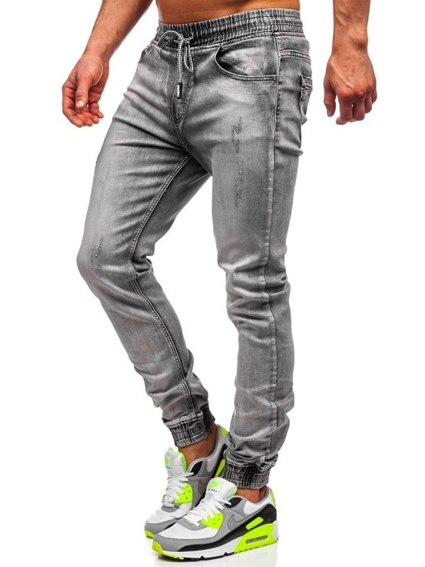 Čierne pánske rifľové joggery Bolf KA1828-1