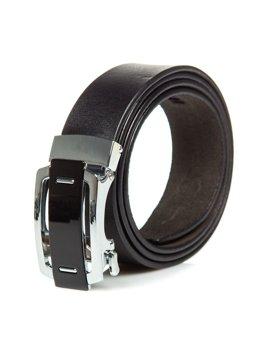Čierny pánsky kožený opasok Bolf P013