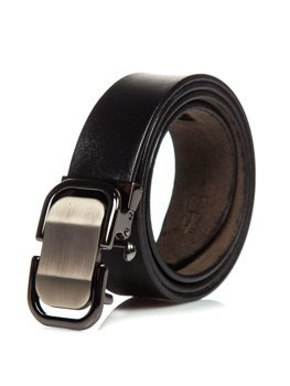 Čierny pánsky kožený opasok Bolf P015