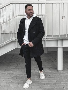 Čierny pánsky zimný kabát Bolf 1048B