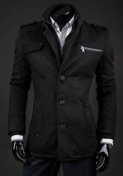 Čierny pánsky zimný kabát Bolf 8856A