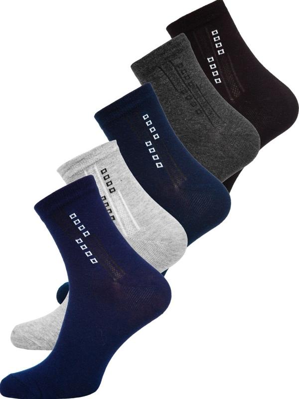 Farebné pánske ponožky Bolf  X10172-5P 5 PACK