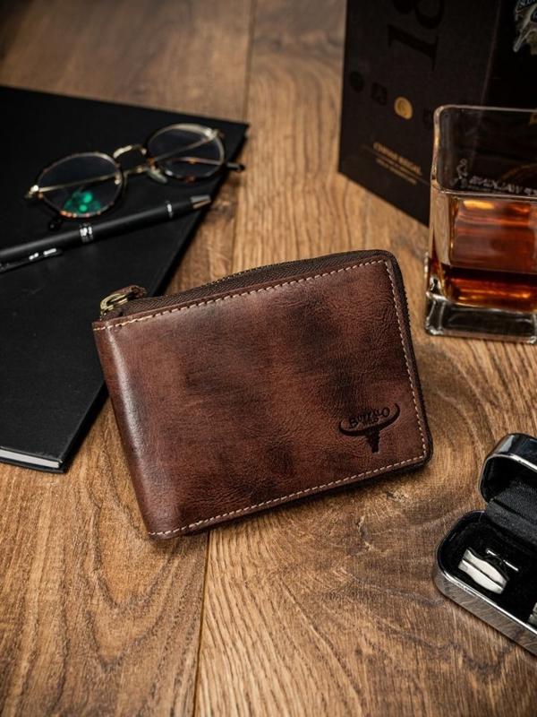 Hnedá pánska kožená  peňaženka 1634