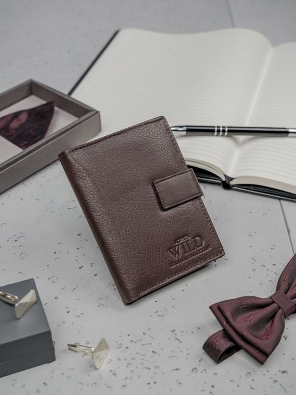 Hnedá pánska kožená peňaženka 3147