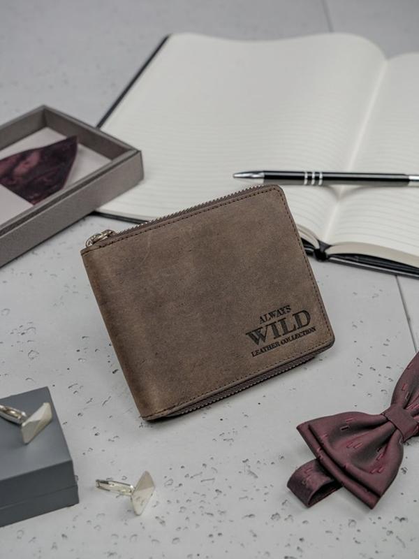 Hnedá pánska kožená peňaženka 3151