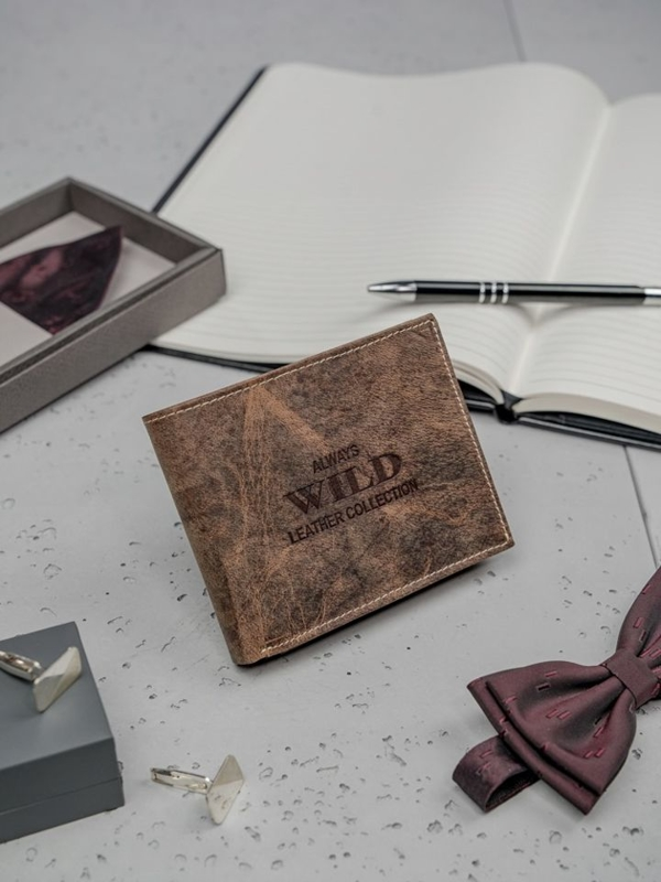 Hnedá pánska kožená peňaženka 3197