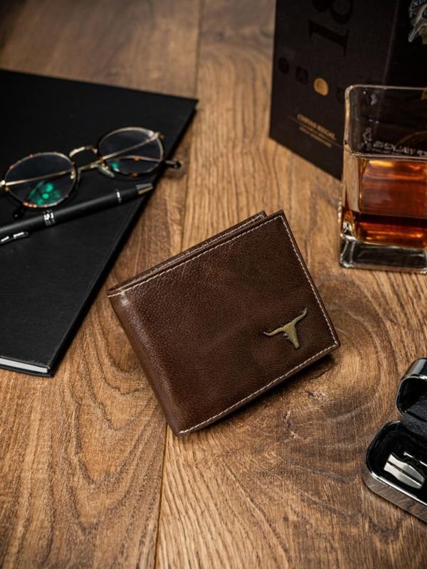 Hnedá pánska kožená peňaženka 53