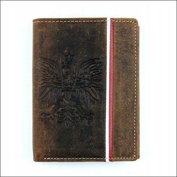 Hnedá pánska kožená peňaženka  680