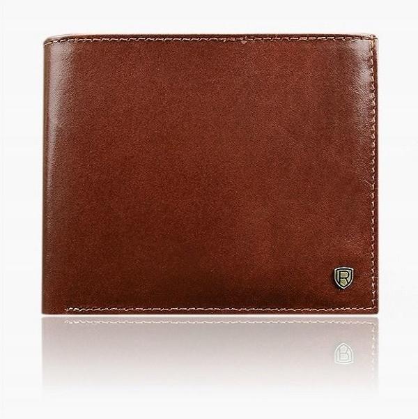 Hnedá pánska kožená peňaženka 918
