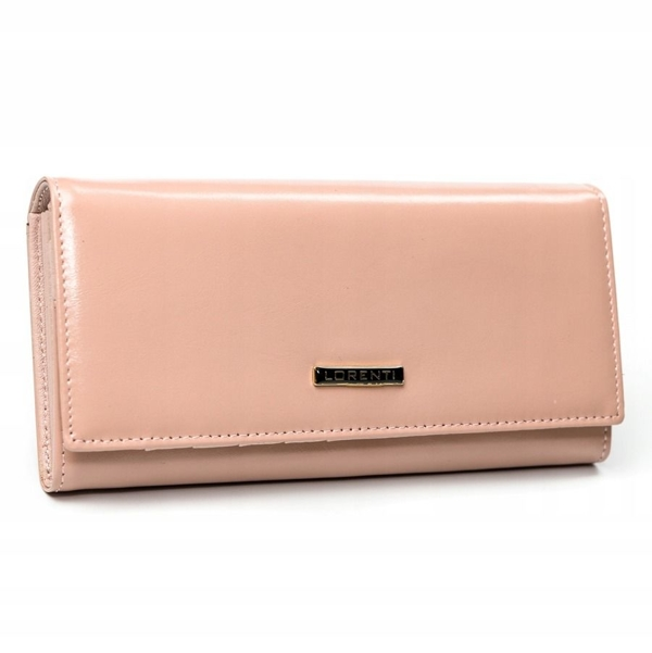 Lososová dámska kožená peňaženka 2858