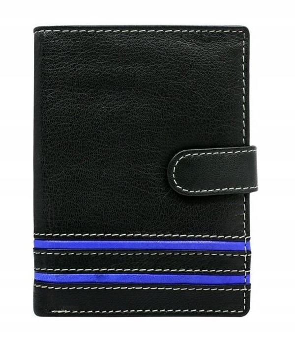 Modrá pánska kožená peňaženka 596